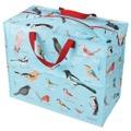 野鳥いっぱいのジャンボ収納バッグ [220g]