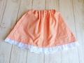 スカート(オレンジチェック+白レース)