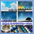 月アート[蒼波]+水晶丸玉+ケラマブルーブレス【3点セット】