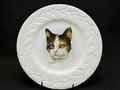 猫好きさんのプレゼントに♡三毛猫プレート コールポート