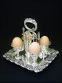 真珠貝のエッグスタンド(エッグクリュエット)4人用 ヴィクトリア時代