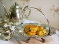 巻貝の足のブレッド/ケーキバスケット ヴィクトリア時代