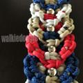 パラコード手編み幅広首輪#511 中型犬〜超大型犬向きハーフチョークマーティンゲール