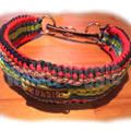 パラコード手編み幅広首輪#166 中型犬〜超大型犬向き ハーフチョークマーティンゲール