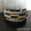 パラコード手編み幅広首輪#400カスタム 37cm-44cm ハーフチョークマーティンゲール
