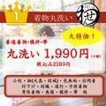 普通お着物・長襦袢・帯・コート類専用丸洗い/特価
