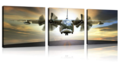 Airplane Wall Art Canvas Prints  Stretched and Framed Aircraft Pictures Paintings Artwork for Home Decor,3 pcs/Set