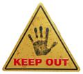 Warning Keep Out