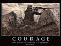 Courage Poster Thomas Jefferson Quote