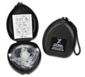 Lightning X Premium CPR Mask Face Shield w/Valve & Tactical Black Hard Case