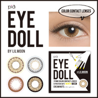 EYE DOLL BY LILMOON 1MONTH Cream nuts(度なし)(1箱2枚入り)