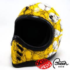 BACONヘルメット BEETLE MTX ホワイト/イエロー