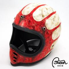 BACONヘルメット BEETLE MTX ホワイトxレッド