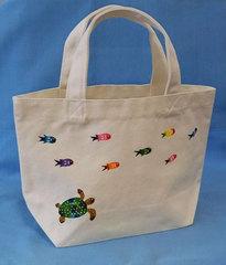 【ネット販売限定】キャンバスミニトートバッグ (美ら海)