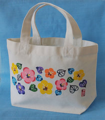 【ネット販売限定】キャンバスミニトートバッグ (ユウナの花)