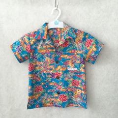 アロハシャツ|沖縄紅型柄 鳳凰|キッズ&ジュニア