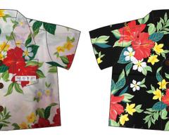 ベビーアロハシャツ・ハイビスカス3d