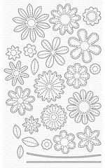 MFT; Stitched Flowers Die