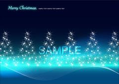 No230 キラキラ クリスマスツリー ブルー 【AI】
