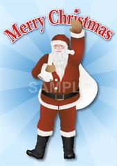 No283 クリスマス サンタクロース(Merry Christmasロゴ入り)