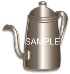 No372 カフェ コーヒーポット セピア調