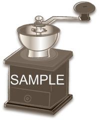 No375 カフェ 焙煎機 セピア調
