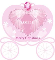 No396 クリスマス キラキラ かぼちゃの馬車 classicalピンク