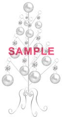 No456 クリスマスツリー キラキラ・シルバー
