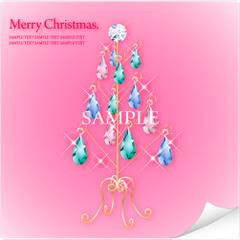 No458 クリスマスツリー キラキラ・ジュエリー 【AI】