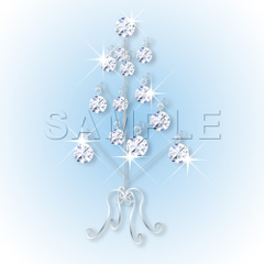 No461 クリスマスツリー キラキラ・ダイアモンド