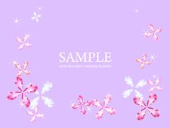 No531 キラキラ素材 花 パープル 【AI】