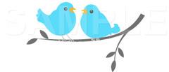 No.569 小鳥 ブルー