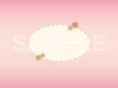 No.588 小花のタイトルマーク ピンク