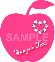 No.604 キラキラ素材 リンゴ ダイヤモンド 【AI】