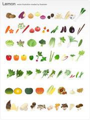 No.618 野菜のイラスト 【AI】