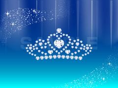 No1171 ハートのティアラ・ダイヤモンド 【AI】