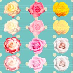 No1129 おしゃれな薔薇のイラスト