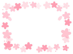 No1102 桜の飾り枠 ピンク