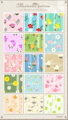 No1116 花柄 キッチン用品 パターン