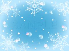No.821 クリスマス イラスト ブルー