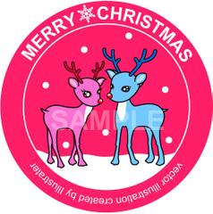 No.837 クリスマスのイラスト 可愛いトナカイ 【AI】