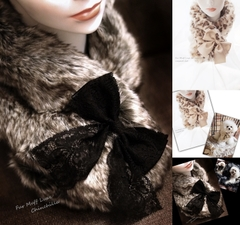 Fur Muff Luxe♪for woman(女性用)☆Cinchilla/Leopard Cat☆