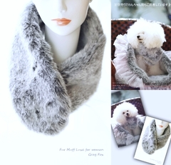 Fur Muff Luxe♪for Owner(男女兼用)☆Gray Fox☆