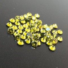 ダイヤカット2.5×1.7 オリーブ キュービックジルコニア