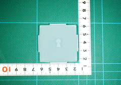 10「プレート穴あけ 鍵穴」レジン用モールド