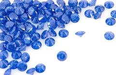 ダイヤカット7×4 瑠璃 キュービックジルコニア