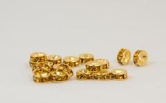 6×3 平型ロンデル(ゴールド) トパーズ