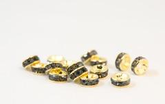 6×3 平型ロンデル(ゴールド) ディープグレー