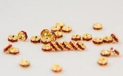 4x2 波型ロンデル(ゴールド) レッド