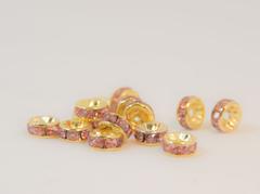 6×3 平型ロンデル(ゴールド) ライトローズ